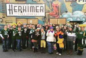 Packer fans at the Herkimer Pub & Brewery in Minneapolis